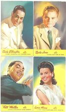 Rca Victor Postcard Set ~ 16 Color Artist Promo Cards ~ Waller, Dorsey, Shaw 40s