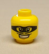 x1 NEW Lego Minifig Head Mask Black with Eyeholes and Thin Moustache
