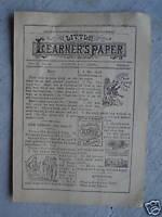 June 17 1894 Booklet Little Learner's Paper Newspaper