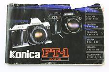 190817 Konica FT-1 Motor Genuine User Instruction Manual Booklet 1982