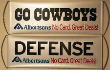 2 Dallas Cowboys Albertsons Version 1 FanBana Sign Banner Pennants New! U Get 2!