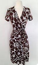 Diane Von Furstenberg New Julian Two, Floral Wrap Dress Sz6 NWT