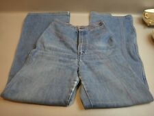 Vintage 70's Rare Rainbow High Waisted Bell Bottom Wrangler Jeans Denim Wide Leg