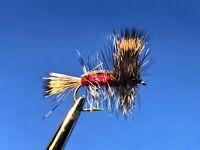 12 Dry Flies F732 Yellow Humpy Trout Fly Size 16-1 Dozen