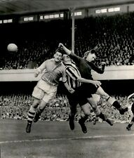 New listing LG922 1954 Wire Photo RUGBY PLAYERS COLLIDE WITH REFEREE Classic Sports Bloopers