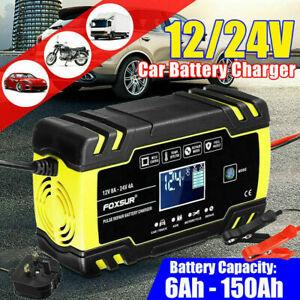 Smart Intelligent Car Battery Charger Automatic Pulse Repair Starter 12V 24V UK