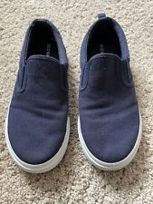 Old Navy Boys Canvas Slip On Shoes Navy  (only worn for 10 minutes in the house)