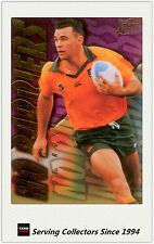 """1996 Futera Rugby Union Trading Cards Retail """"NO BARRIERS"""" NB8: Joe Roff"""