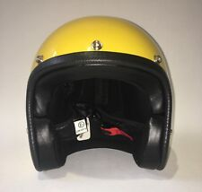 CASQUE MOTO JET - 70'S - JAUNE - TAILLE M - retro, vintage, chopper, racing