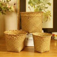 Nordic Style Hand-Woven Storage Basket Fruit Rattan Flower Plant Pots Containers