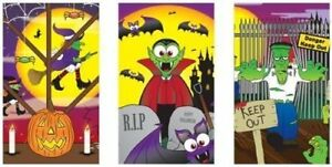 3 - 36 Halloween Notepads/Notebooks Trick Treat Party Bag Filler Scary Monster