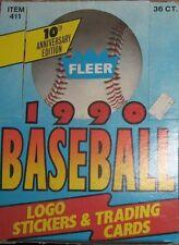 1990 Fleer BASEBALL Box Unopened 36 packs