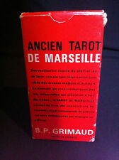 ANCIEN TAROT DE MARSEILLE B.P. GRIMAUD 78 CARDS FRENCH / ENGLISH - RARE - 1969