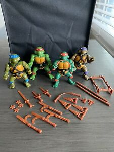 1988 TMNT Lot Teenage Mutant Ninja Turtles Playmates Michelangelo Raphael