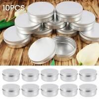 10X petite boîte à échantillons aluminium cosmétique vide de pot ond G