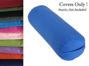 Yoga Bolster Cover to Fit Standard Bolster 95 x 25cm Diameter Two Layers Cotton