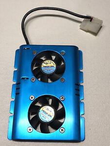 "Mass Cool 3.5"" Hard Drive Disk HDD 4 Pin Cooling Fan Cooler Radiator PC SATA IDE"