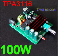 dc 12v-24v TPA3116D2 100W mono digital amplifier board 100W subwoofer amp F CAR