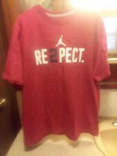 "Nike Jumpman Retro Jordan ""Re2pect"" Jeter Men's T-Shirt Red Size Xl Preowned"