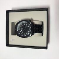 Bulova 98B219 Mens Accutron II Snorkel Black Dial Black Steel Bracelet Watch