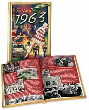 The Year Was 1963 - Hardcover Trivia Mini-Book by Flickback 1963 Pictures, Ads