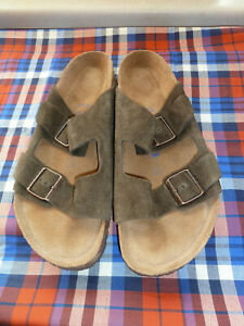 Birkenstock Arizona Soft Footbed Mocha Suede Slip On Sandal EU 44 US Men's Sz 11