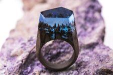 Wood resin ring Winterfell Secret Handmade jewelry Epoxy resin rings for women
