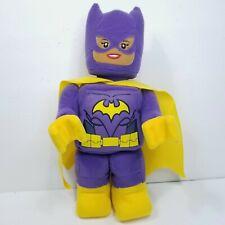 "Lego Batgirl Plush Batman Movie Purple Yellow Large Minifigure 14"" DC Comics"