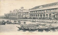 Postcard original Malaysia Singapore Collyer quay quai 15
