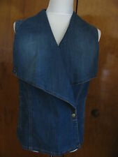 Kut from the kloth women's blue cotton/rayon jean vest size XLarge NWT