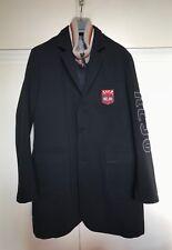Cappotto uomo KEJO nero imbottitura staccabile smanicato XL men's coat