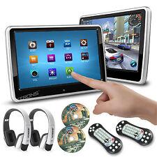 "2pcs 10.1"" Touch Screen Car Headrest Monitor DVD/USB MP5 Player IR/FM Headsets"