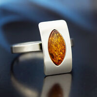 Bernstein Silber 925 Ring Sterlingsilber Damen-Schmuck verschiedene Groessen R25