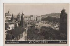Barcelona Placa de Catalunya Vers Montjuic Spain RP Postcard 322a