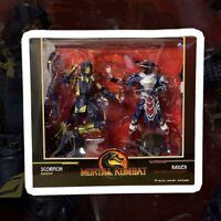 Mortal Kombat Action Figure Scorpion e Raiden McFarlane Toys 18 cm