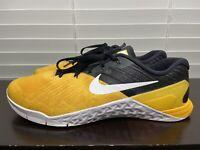 Nike Metcon 3 Bumblebee Black Yellow Lifting Training CrossFit Shoes Size 12