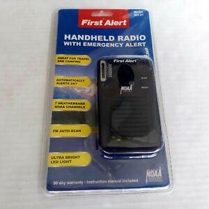 First Alert Handheld FM Radio with Emergency Alert WX-07  Sima RARE