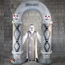 2.7 m al aire libre luz Halloween Cementerio Arco Inflable Archway Decoración Utilería