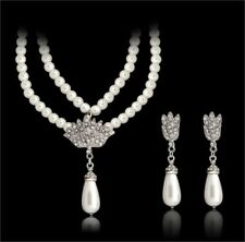 Simulated Pearl Alloy Costume Jewellery Sets