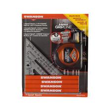 "Swanson 7"" Speed Square, 25' Savage Gripline Tape Measure, 4 Carpenter Pencil"