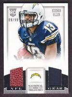 2013 National Treasures NFL Gear Combos Jersey #17 Keenan Allen 09/99 Chargers