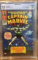 Captain Marvel #1 1968 CBCS 9.0 OW/White Pages