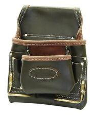 8 de bolsillo Nail & Bolsa De Herramientas Profesional Martillo aceite de grano superior cinturones de cuero marrón
