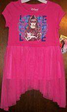 Girls Dress sz XS 6 DISNEY D-SIGNED Pink & Blue w/Girl, LOVE & Kitten NWT