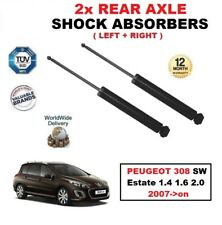FOR PEUGEOT 308 SW Estate 1.4 1.6 2.0 2007->on REAR LEFT + RIGHT SHOCK ABSORBERS