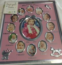 Tiny Ideas Baby's First Year Keepsake Picture Frame Silver 13 Photo Frames New