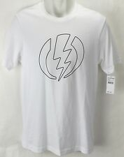 NEW Electric Volt Line White Mens XL Snow Skate Cotton Tee Shirt Msrp$22