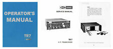 DRAKE TR-7 COPY OPERATOR'S + SERVICE MANUALS + PS7 + BROCHURE IN A 3 RING BINDER