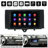 9'' Android 9.1 1+16GB Car Stereo Radio GPS WIFI For Mercedes Benz Smart Fortwo