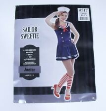 Sailor Sweetie Costume Halloween Nautical Patriotic Junior Large